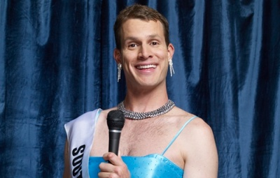 Daniel Tosh in some kind of drag